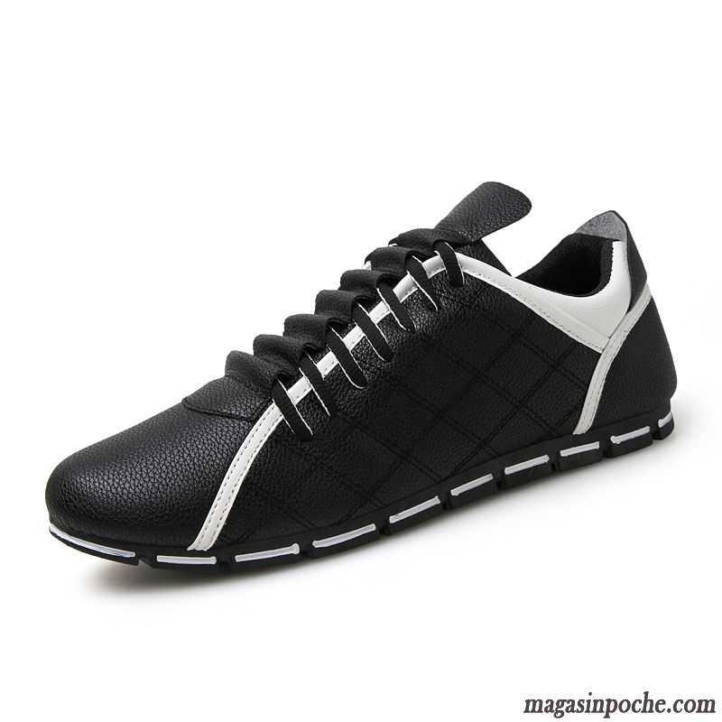 82d5ac4ffe5 Chaussure Classe Homme L automne Toile Respirant Casual Homme Tendance  Chaussures En Cuir Laçage Angleterre Bleu Cobalt