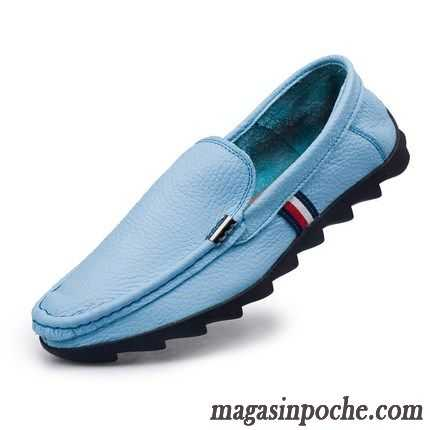 fe847706294bc2 Chaussure Homme Solde Angleterre Respirant Paresseux Casual Homme Cuir  Véritable Été Tendance Grande Taille Blanc ...