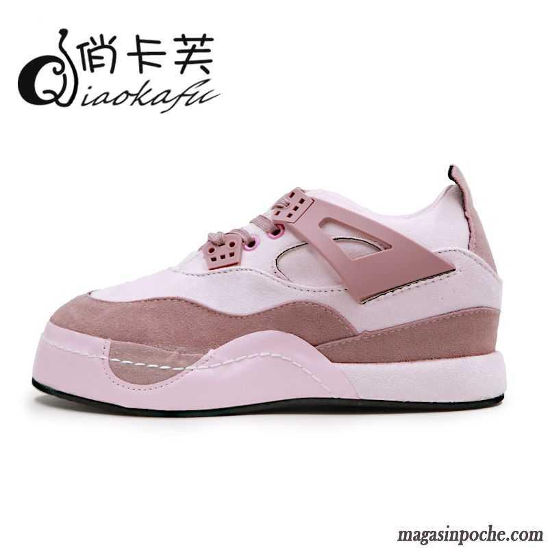 énorme réduction b2243 b2d56 Chaussures Sport Femme Soldes Semelle Épaisse Chaussures De Course Tendance  Élève Casual Femme L'automne Vert Printanier
