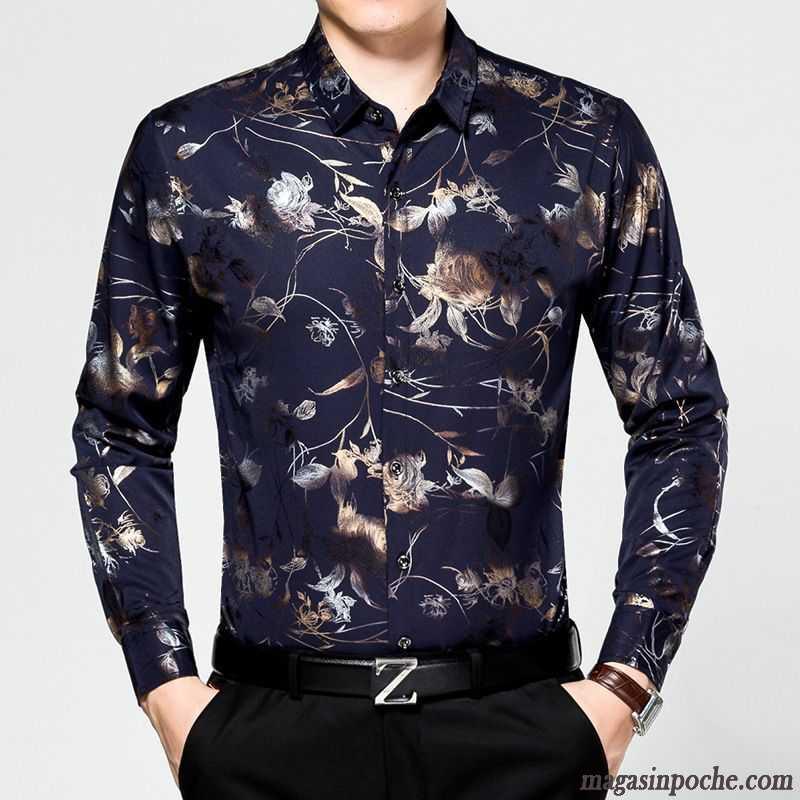 chemise blanche et noire homme l g re fleur automne homme chemise matelass manches longues. Black Bedroom Furniture Sets. Home Design Ideas