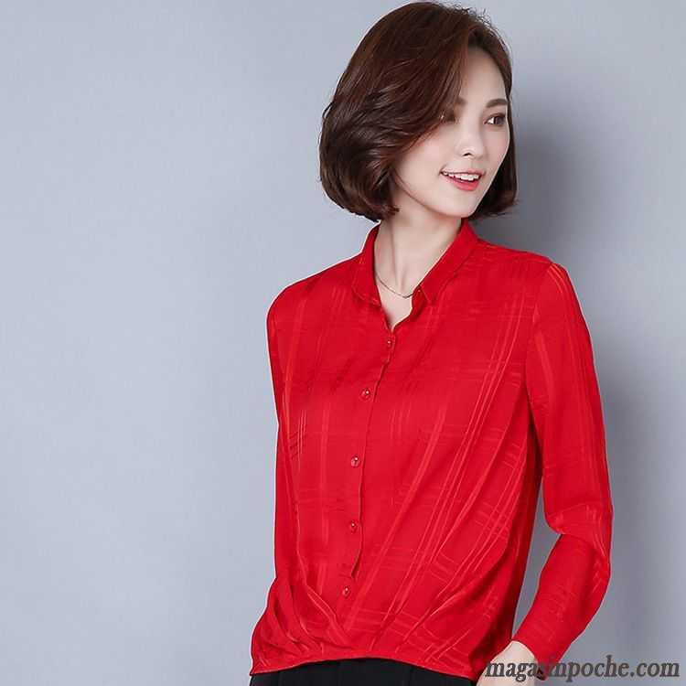 chemise originale femme automne femme chemise mousseline de soie manches longues professionnel. Black Bedroom Furniture Sets. Home Design Ideas