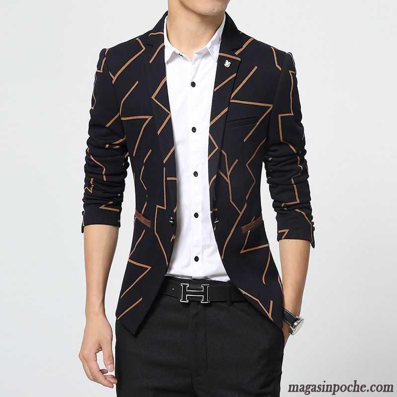 magasin en ligne où puis je acheter grande variété de styles Costume Noir Homme Slim Style Chaud Printemps Automne Costume Veston  Décontractée Homme Jeunesse Pardessus Noir