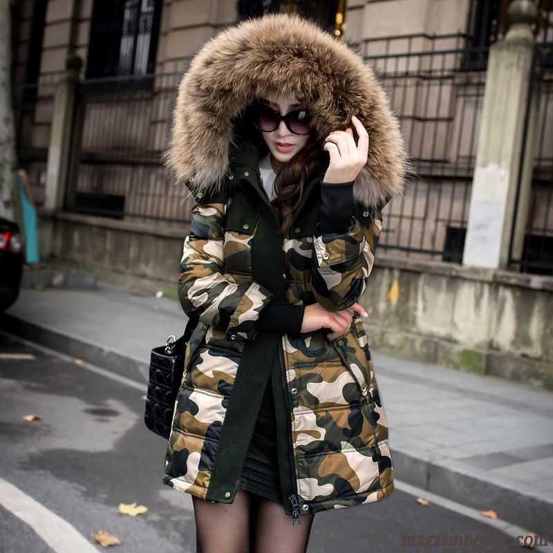 manteau long doudoune femme femme col de fourrure longue l 39 automne et l 39 hiver doudoune pardessus. Black Bedroom Furniture Sets. Home Design Ideas