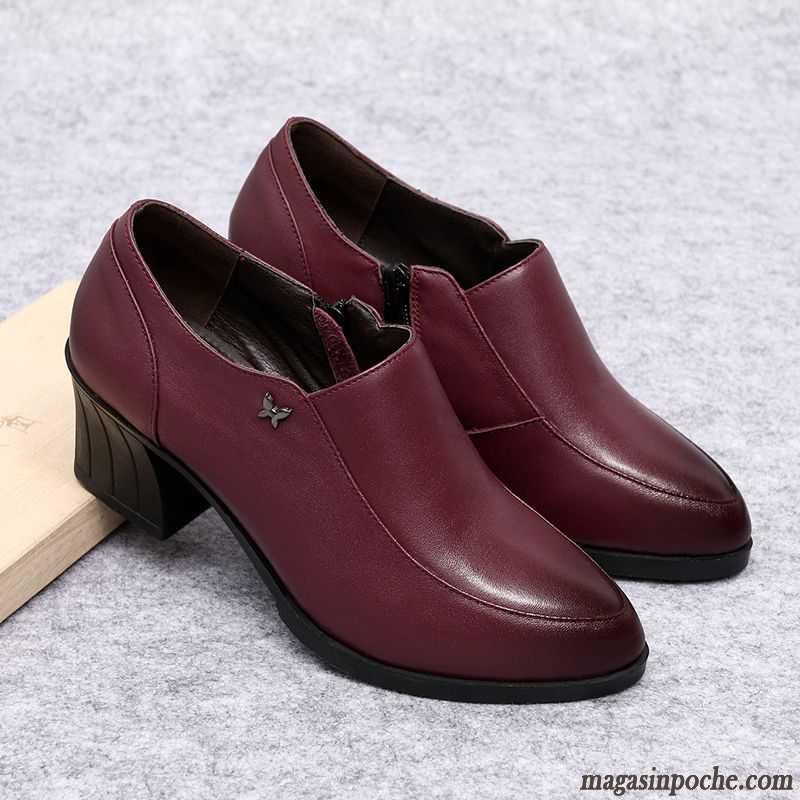 Aigue Chaussures Marine Cher Printemps Pas En Véritable Femme Confortable Escarpins A L'automne Pointe Talon Cuir Pointue 8XNnOP0wk