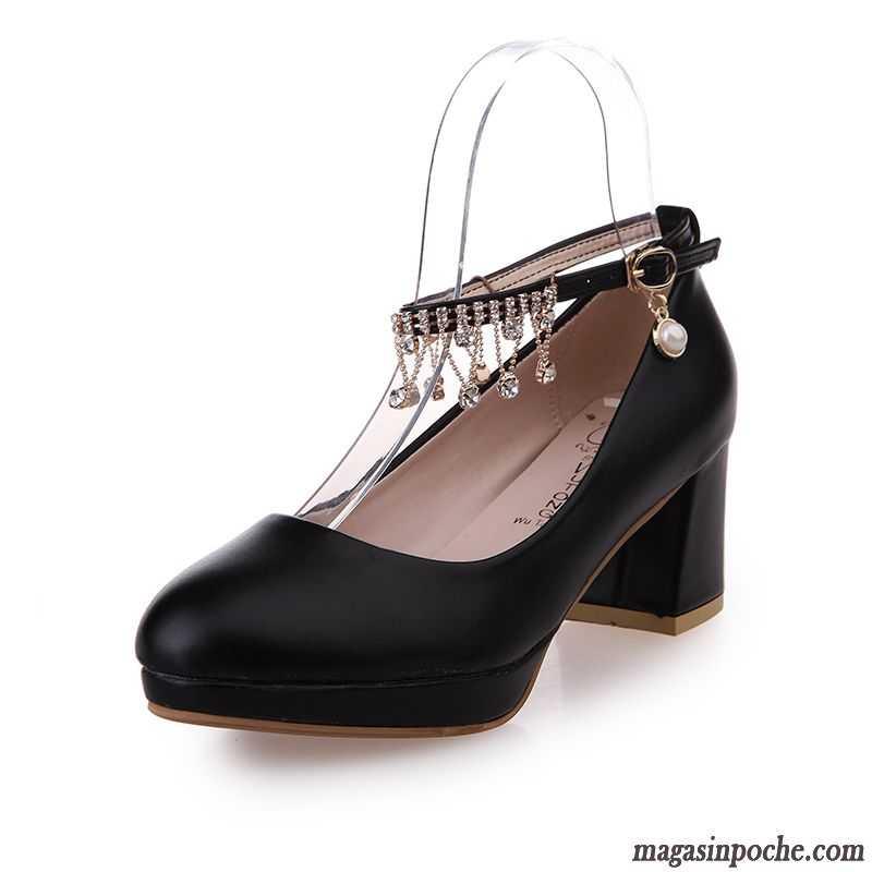 Chaussures de soirée automne à bout rond bleues Fashion femme k4CizBGua