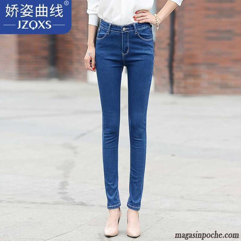 Jean Blanc Femme Femme Extensible Mince Automne Slim Légère Jeans Pantalon  Kaki Vente 43d281d9707