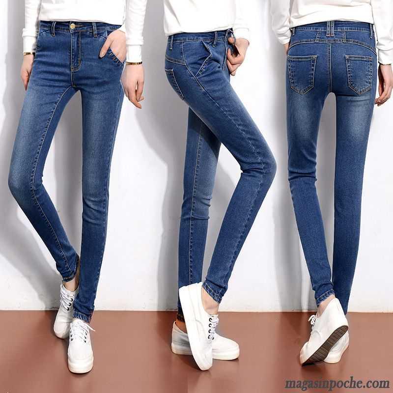 b5fcf8e4e488d Jean Bootcut Femme Noir Jeans Extensible Automne Mince L automne Et L hiver  Femme Slim Pantalon ...