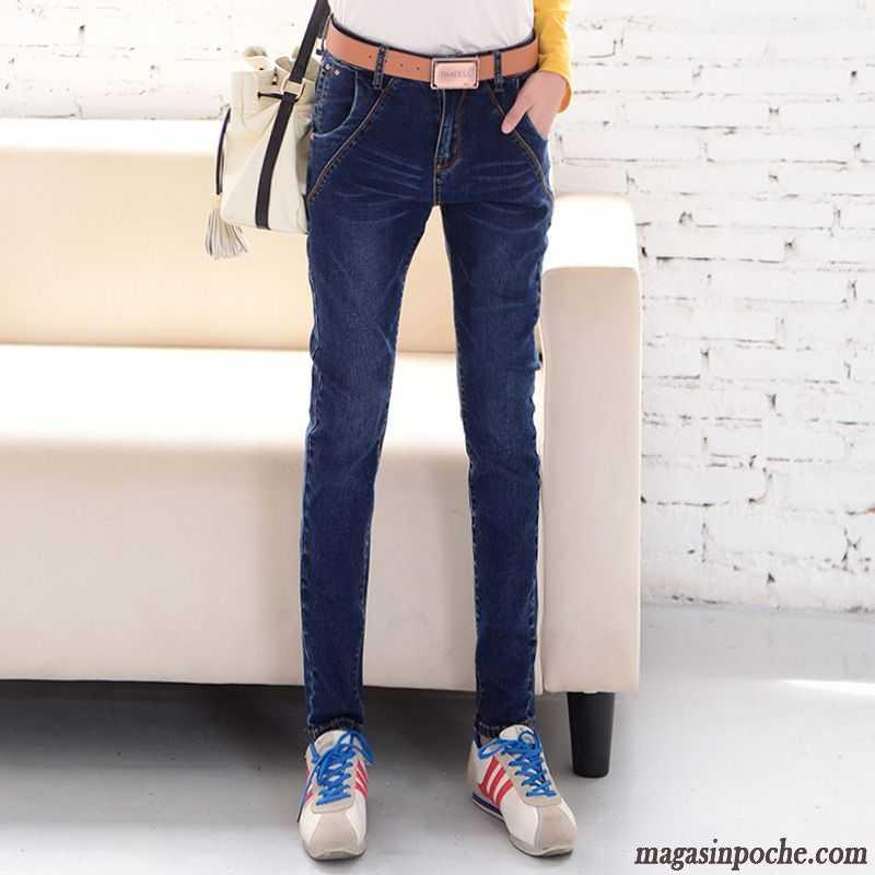 ff1846c4a27b Jean Femme Taille Haute Extensible Décontractée Femme Jeans Taillissime Slim  Pantalon Graisse Automne Jaune Vert Vente