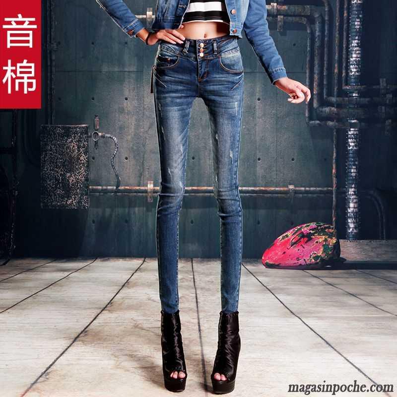 jean noir bootcut femme forme haute cintr e maigre jeans mince slim pantalons crayon pantalon. Black Bedroom Furniture Sets. Home Design Ideas