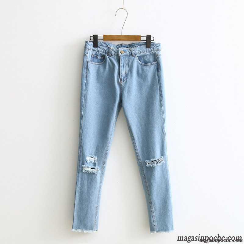 Jean slim d chir fashion designs - Pantalon noir troue ...