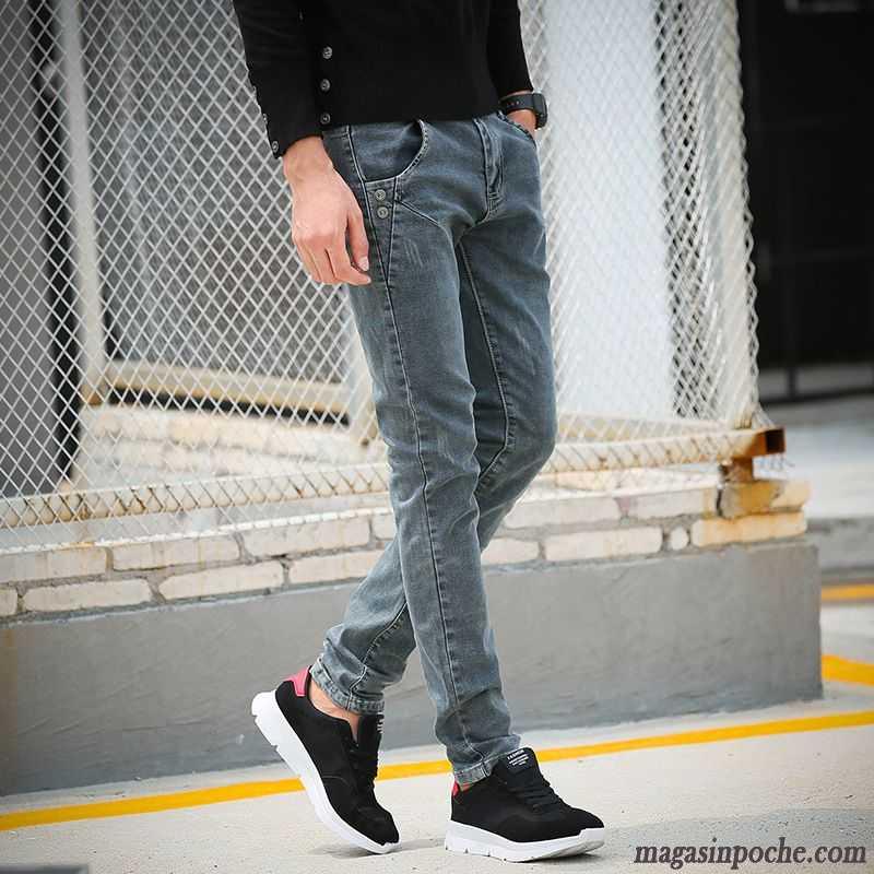 Marque Gris Jeans Tendance Maigre Rose Homme De L'hiver L'automne Pantalon Et TFKJcu35l1