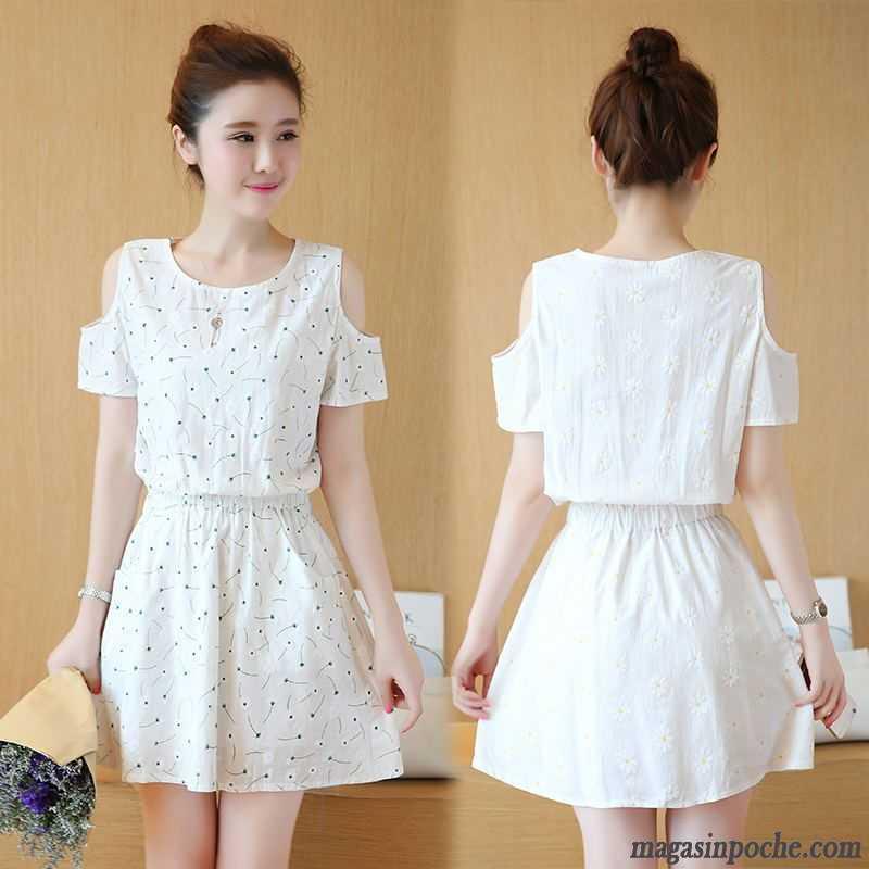 jupe blanche pas cher robe t femme impression manche. Black Bedroom Furniture Sets. Home Design Ideas