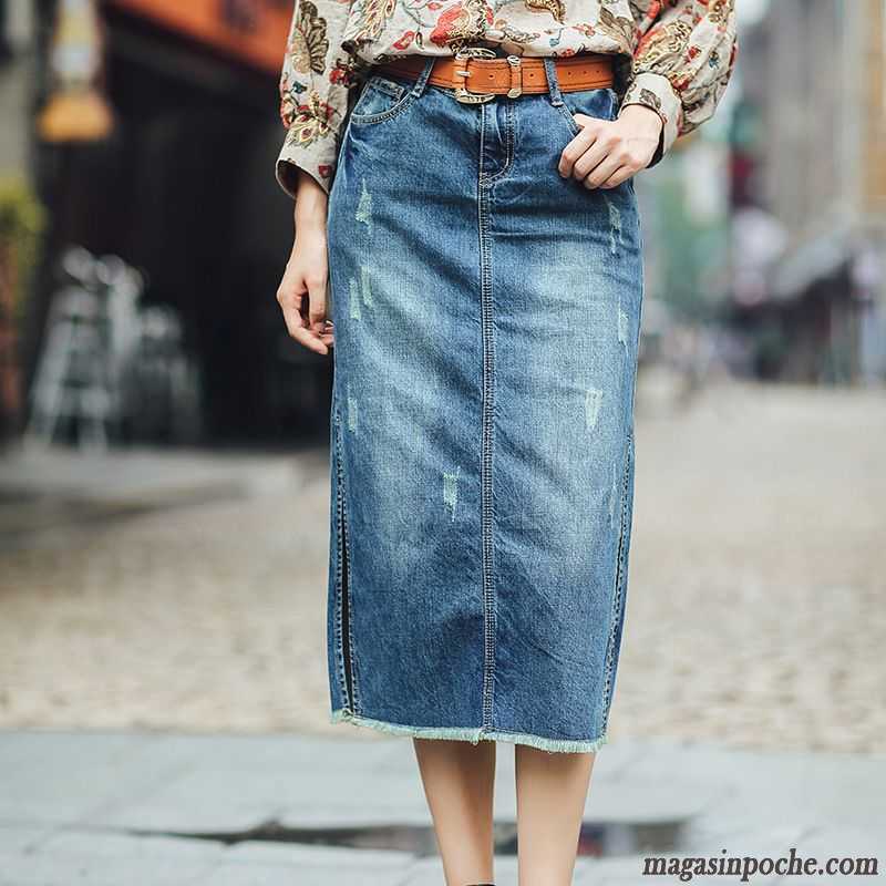Jupe jean longue femme pas cher   Ensconet 67ab5df5081a