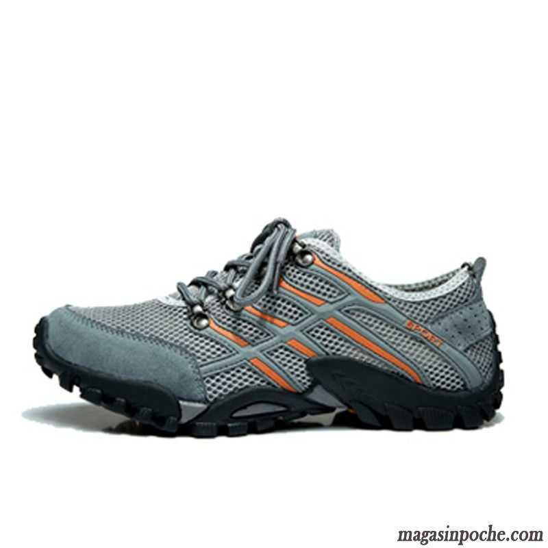 Magasin Chaussure Sport De Plein Air Chaussures De Randonnée Été Homme Engrener Respirant Net Net Yarn Rose Saumon