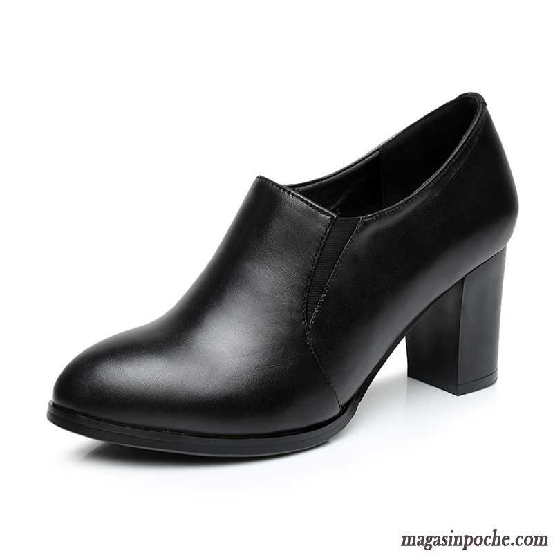 Escarpins Les Assortis Épais À Chaussures Hauts Lilas Tous Magasin Véritable Printemps Talons Femme Basse Cuir De L'automne En Casual FK1lc3uTJ