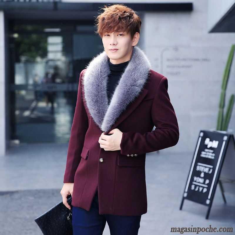 Manteau en cuir homme hiver