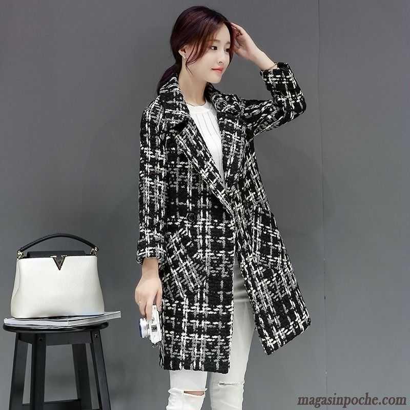 manteau femme classique slim longue tendance de laine dame. Black Bedroom Furniture Sets. Home Design Ideas