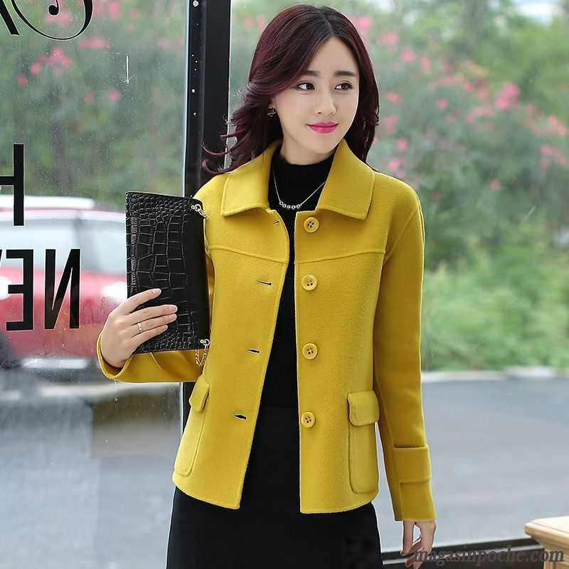 manteau femme de laine mince court tendance peachpuff soldes. Black Bedroom Furniture Sets. Home Design Ideas