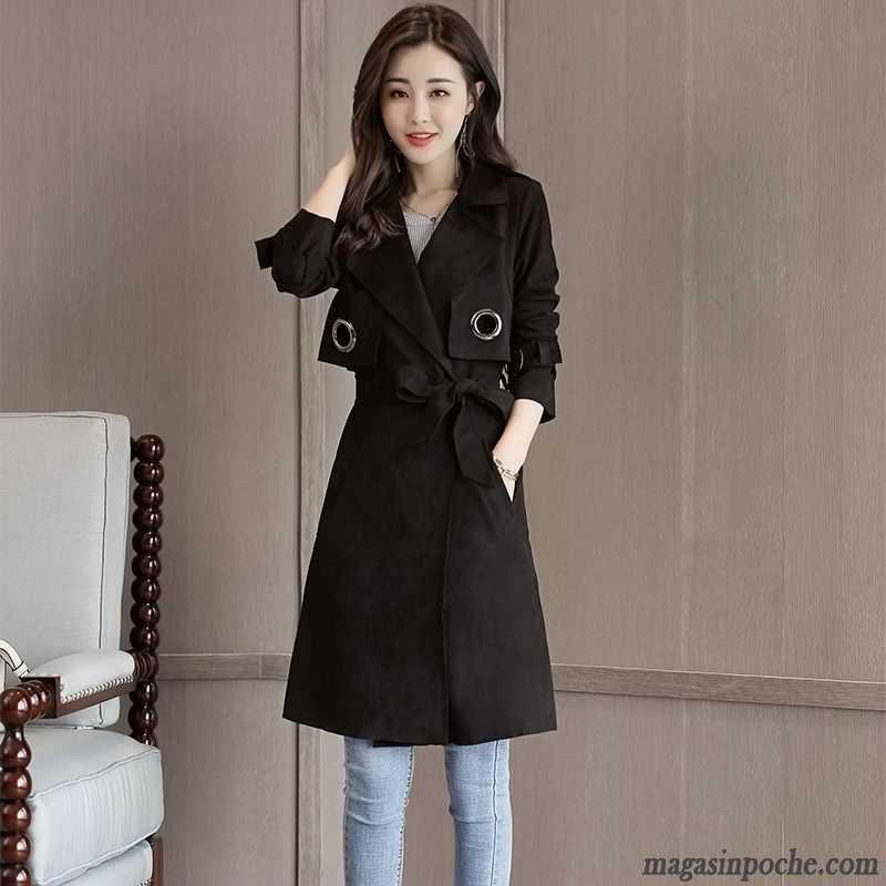 Manteau long femme en cuir pas cher