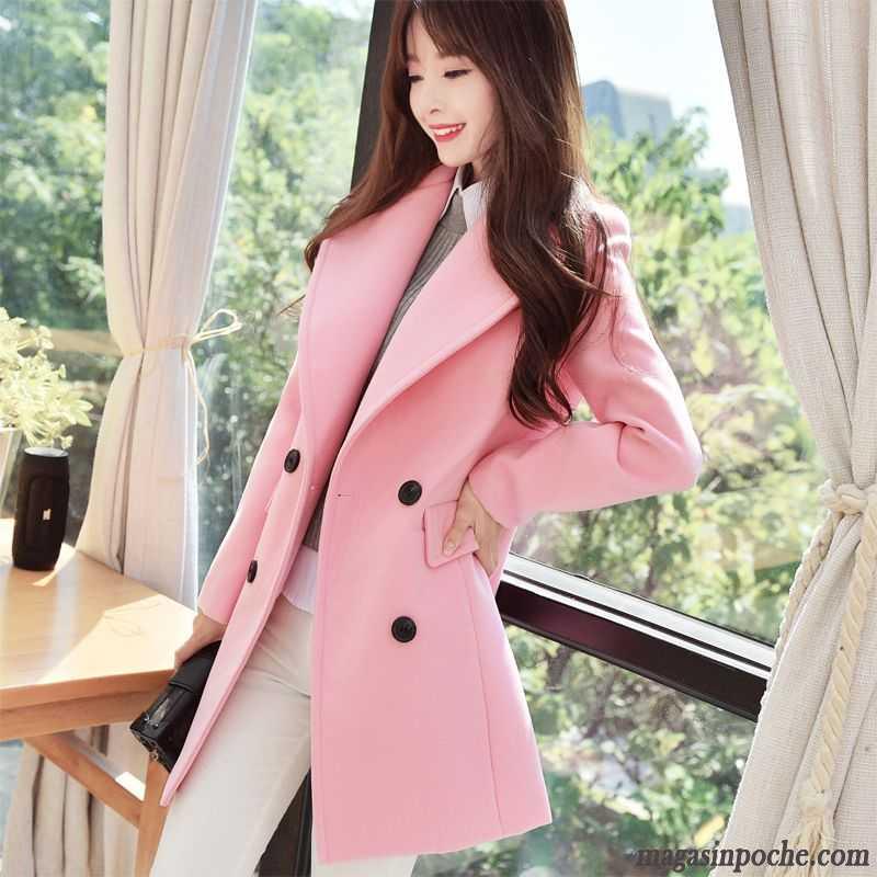 Manteau d'hiver femme rose