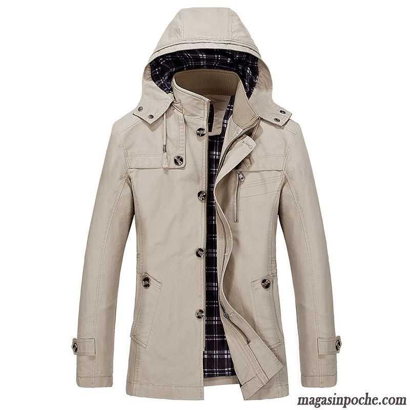 Manteau homme hiver a capuche