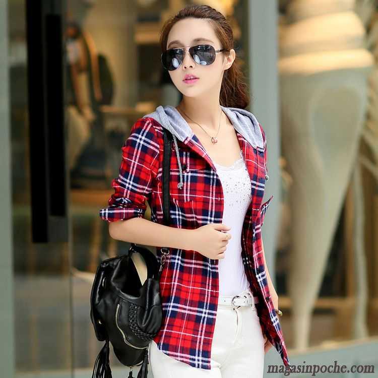 mode chemise en jean femme longue femme chemise carreaux manches longues automne slim capuche. Black Bedroom Furniture Sets. Home Design Ideas