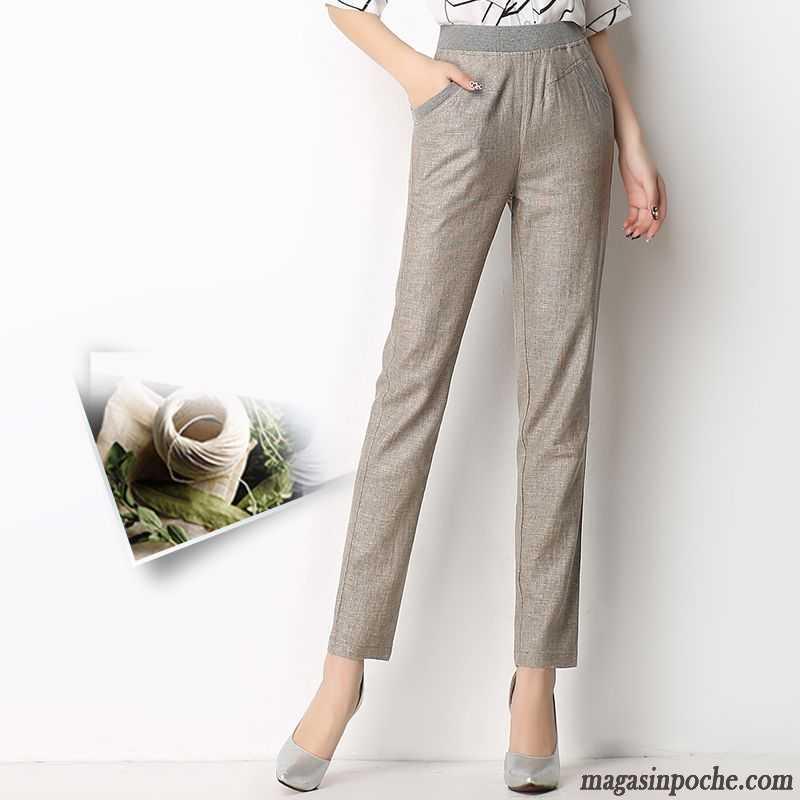 pantacourt en lin femme jambe droite matelass l g re taillissime pantalons d contract s. Black Bedroom Furniture Sets. Home Design Ideas