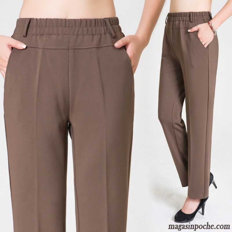 1b0ce8fbedf Pantalon De Lin Pour Femme Renforcé Taillissime Costume Jambe Droite  Élastique Pantalon Femme L automne Et ...