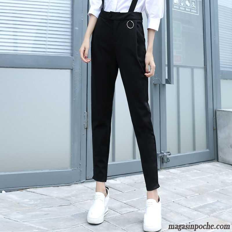 modèles à la mode qualité authentique dernière conception Pantalon En Lin Blanc Bretelle Pantalons Décontractés Automne Femme Harlan  Slim Mauve