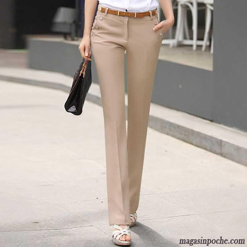 639d147345442 Pantalon Habillé Femme Femme Tous Les Assortis Automne Pantalon  Professionnel Pantalons Décontractés Mode Jambe Droite Brun