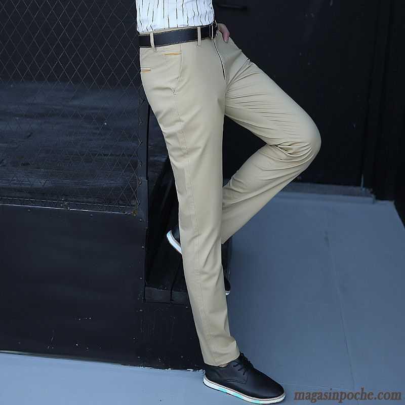 Pantalon homme coupe droite jambe droite pantalon tendance slim printemps t baggy pantalons - Pantalon multipoche homme ...