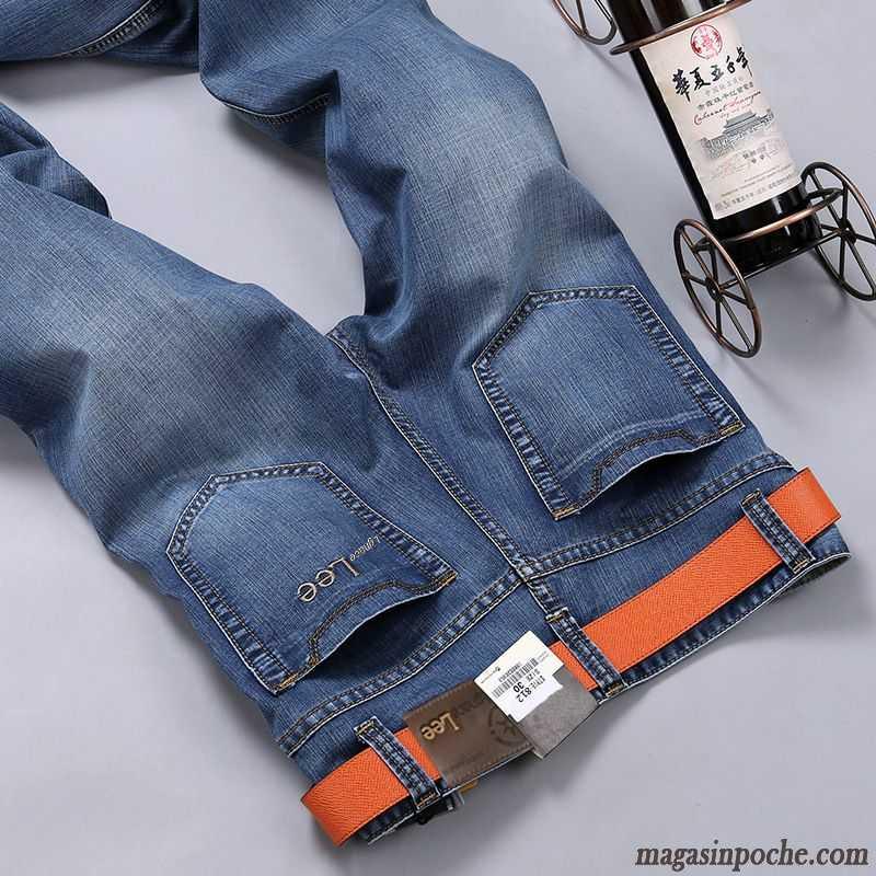 Pantalon Middle Fashion Mince Printemps Waisted Jean Homme Été Homme qxxtTrH7