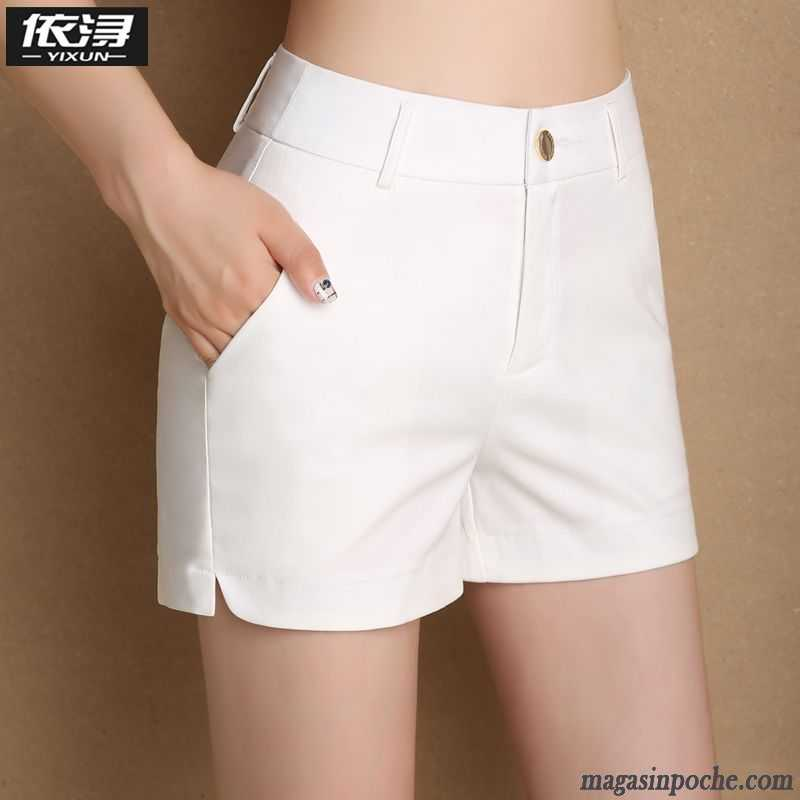 Baggy Femme Taillissime Costume Vente Peachpuff Blanc Shorti Sport Laine Pantalon Été Décontractée Mince BxodCerW