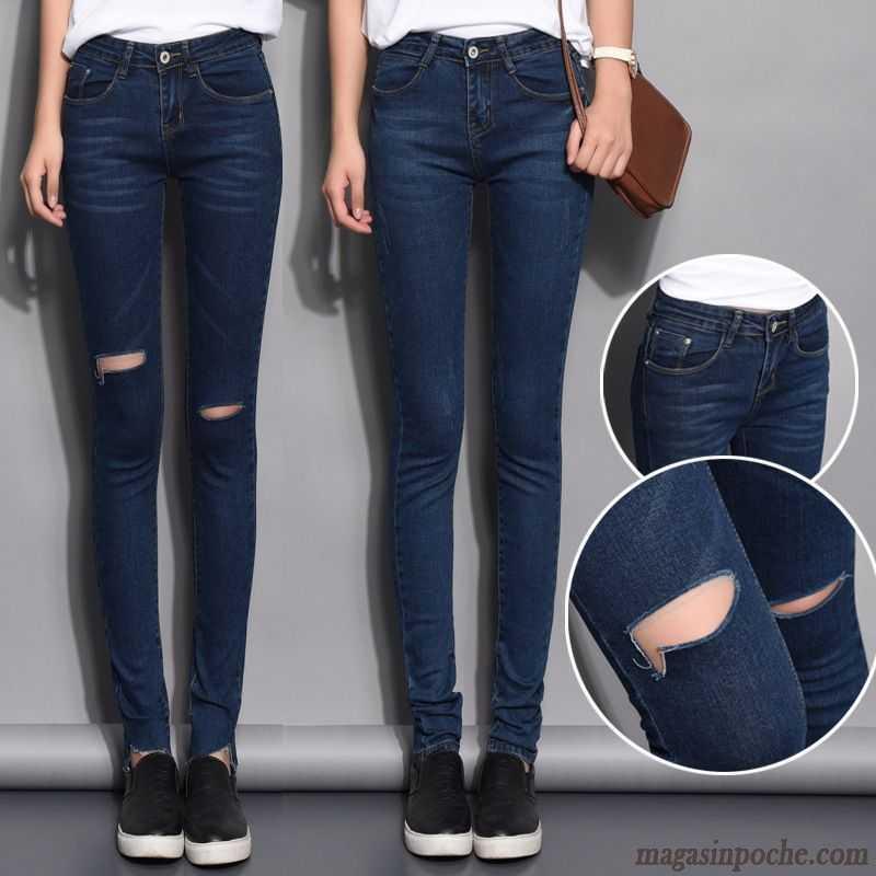 acheter en ligne 95982 f4c25 Pantalon Slim Femme Taille Haute Pantalons Crayon Slim Jeans Femme Automne  Campus Vent Pantalon Middle Waisted Mince Olive Verte