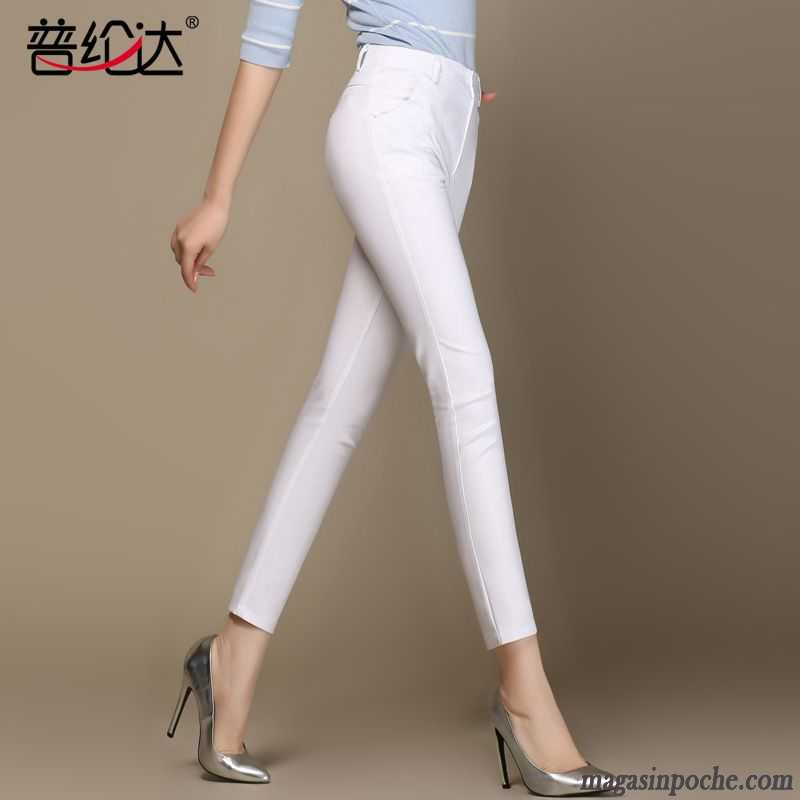 pantalon blanc large taille haute femme. Black Bedroom Furniture Sets. Home Design Ideas