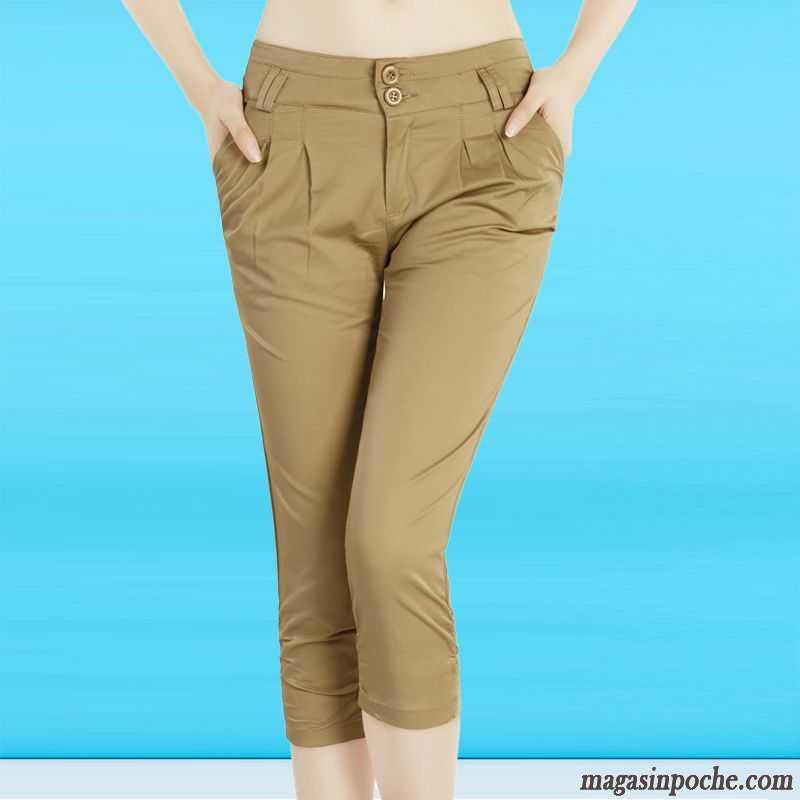 8f55cb2f3fa Pantalon Toile Femme Dame Mince Légère Harlan Été Pantalons Décontractés  Femme Matelassé Argent Pas Cher