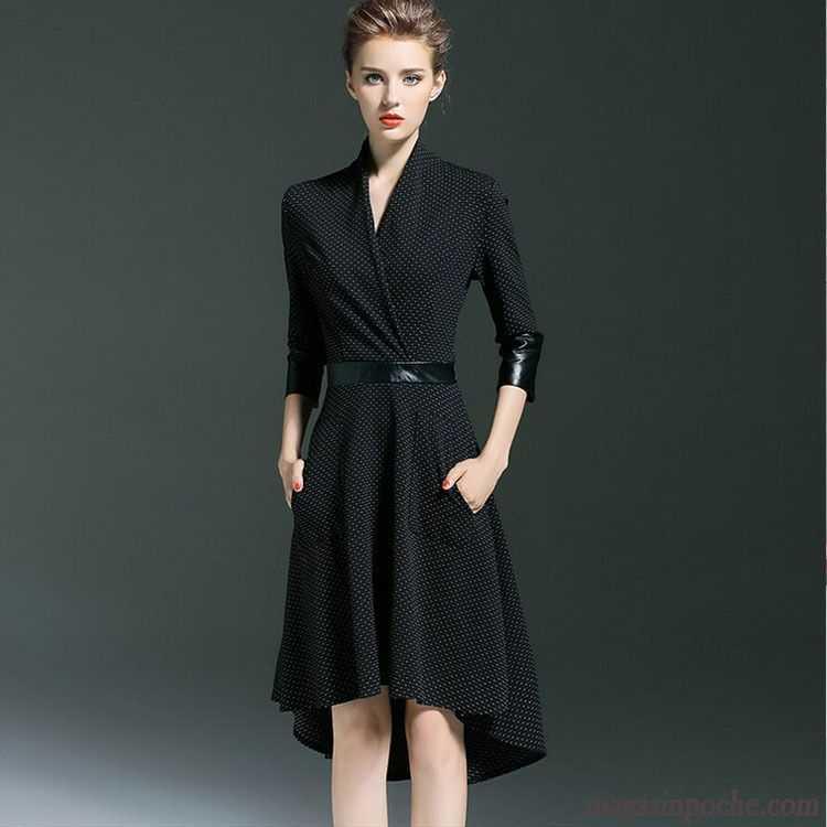 b067f5c71c8 Robe Mi Longue Blanche Taillissime Femme Irrégulier Slim Robe Automne Mince  Pérou