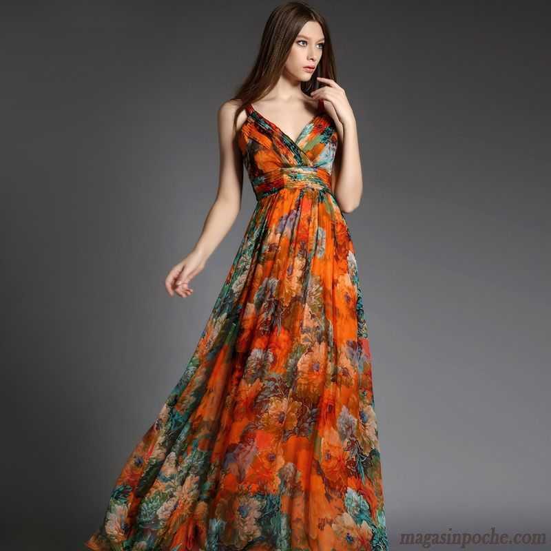 robes mi longues soldes soie jupe longue tendance robe vacances t femme gros plage marron. Black Bedroom Furniture Sets. Home Design Ideas
