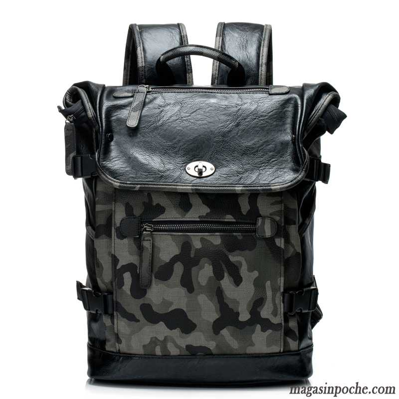 Sac À Dos Homme Mode Cartable Camouflage Voyage Tendance Hommes