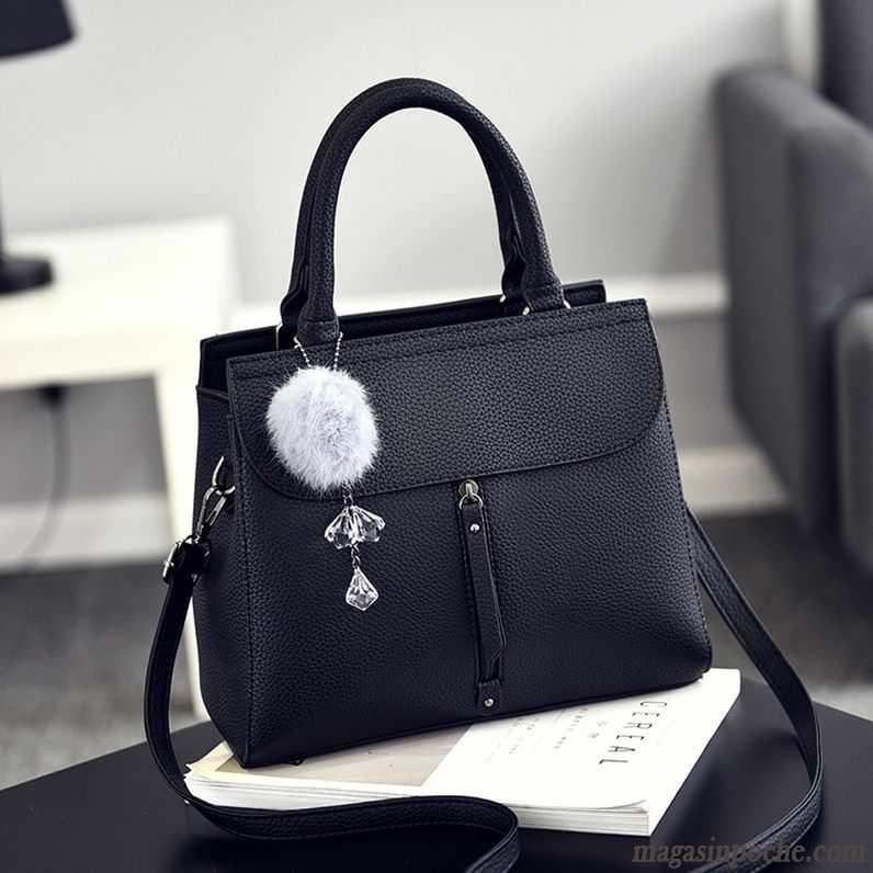 pas mal 61309 b8be6 Sac À Main Pour Cours Grand Paquet Simple Sauvage Mode Femme Rétro Sacs À  Bandoulière Noir Pas Cher