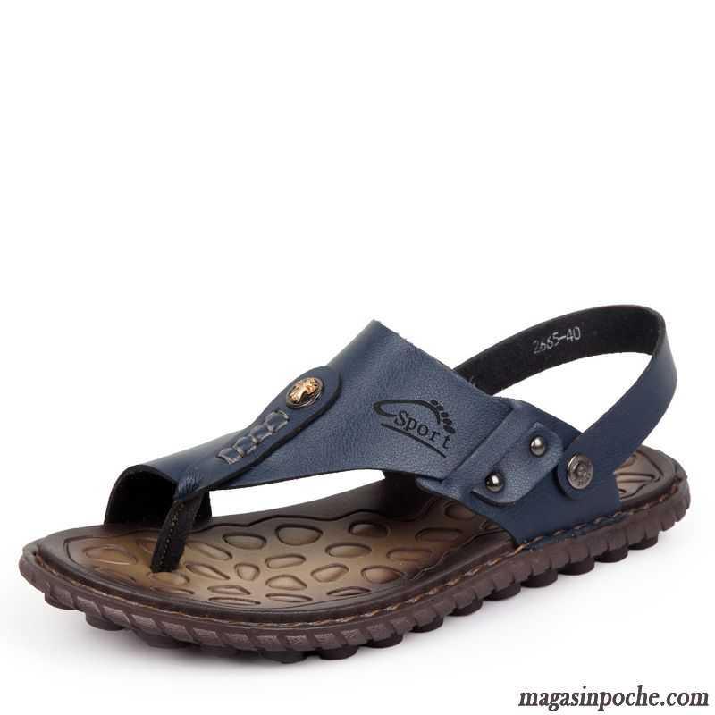 sandales cuir homme sandales de plein air cuir v ritable homme chaussons plage rose choquant pas. Black Bedroom Furniture Sets. Home Design Ideas
