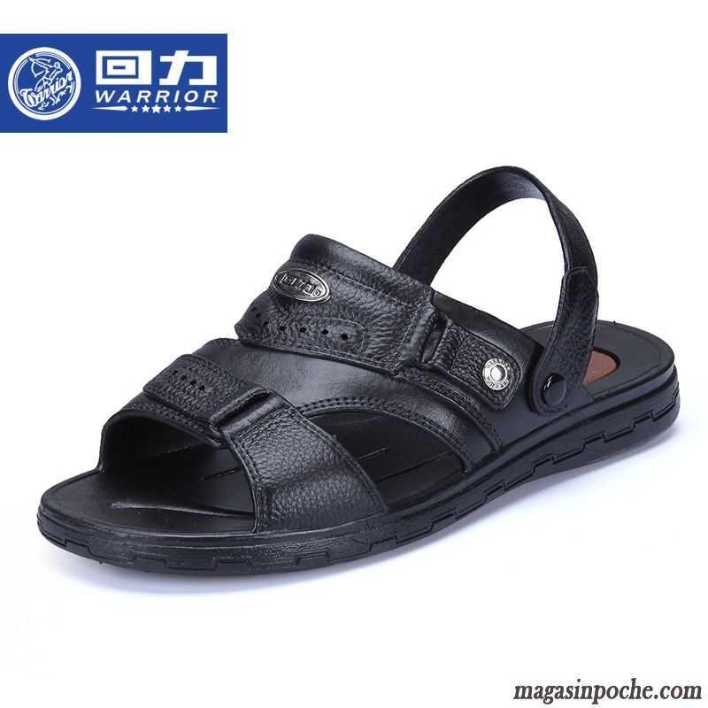 soldes sandales pour homme mode cuir v ritable homme chaussons tendance chaussures en cuir creux. Black Bedroom Furniture Sets. Home Design Ideas