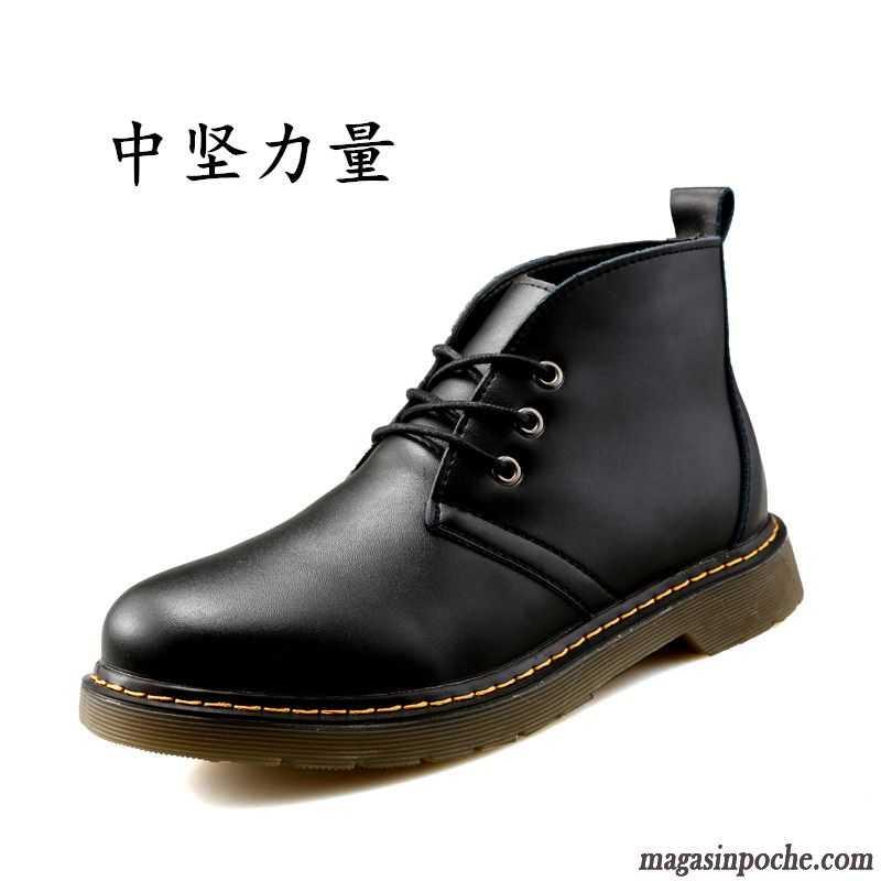 Style De Bottes Homme Hautes Tendance L'automne Angleterre Homme Chaussures En Cuir Corail
