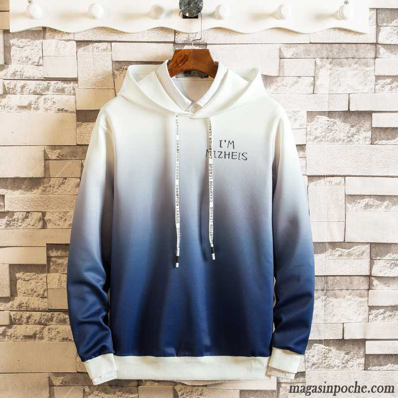 Sweat À Capuche Costume Homme Fashion Printemps Baggy Tendance Bleu Homme Étudiant Hoodies Une Veste Capuche Marron