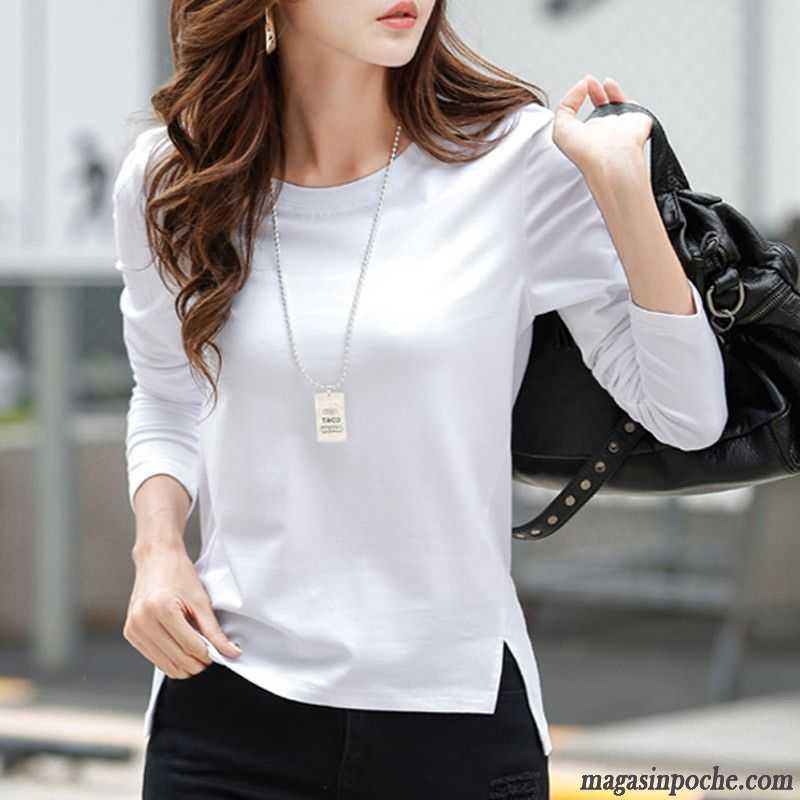Shirt Mauve Longues Femme Rond Coton Bio Col Pure T Automne Chemise Soldes Une Veste En Manches Bas Stylé byf67g
