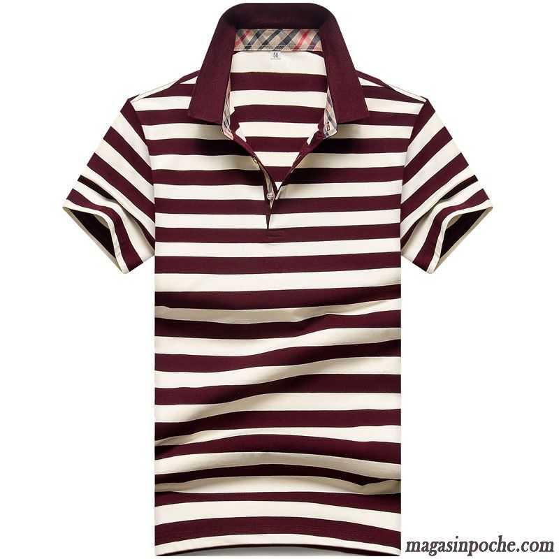Blanc Homme Design Revers Rayé T Baggy Manche Roulé Shirt Imprimé Été Courte OukXZiP