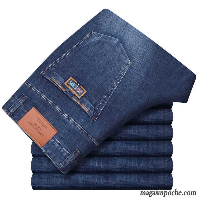 8a5007117bf776 Taille Pantalon Homme Homme De Travail Légère Été Slim Pantalons  Décontractés Jambe Droite Extensible Marque Jeans