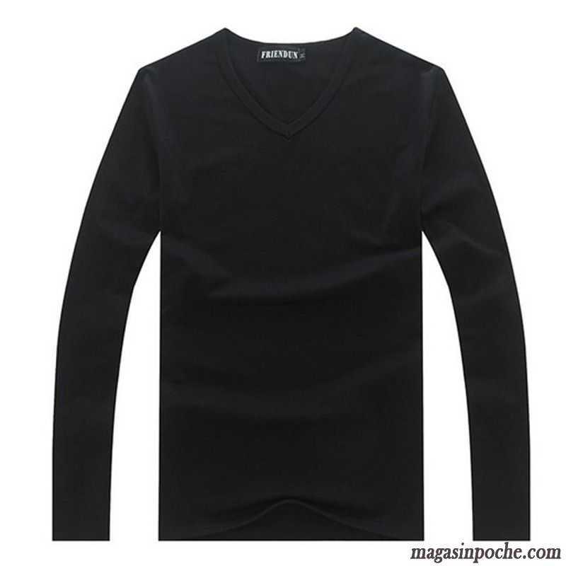 Vêtements. Tee Shirt Blanc Homme Col V Coton Bio Blanc L automne Et L hiver 2735ba5f9acc