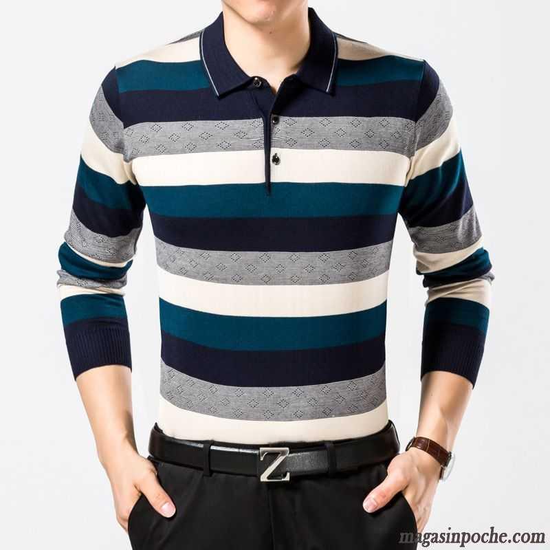 c924342db5b Tee Shirt Homme Imprimé Homme Manches Longues Printemps Marque Coton Bio  Azur