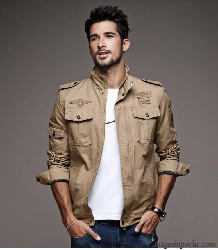 veste doudoune homme slim automne tendance homme court mince jeunesse veste pardessus beige sable. Black Bedroom Furniture Sets. Home Design Ideas